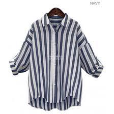 linen blouses fashion blue white striped blouses 2017 summer sleeve