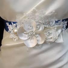 Flower Belts - ivory pearl beaded flower belt bridal wedding sash light ivory 3d