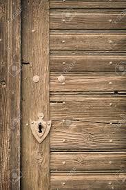 Keyhole Doorway Old Vintage Wood Cellar Door With Rusty Keyhole Stock Photo