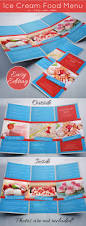 ice cream food menu template tri fold by graficandmedia graphicriver