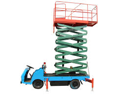 7 5 meters telescopic truck mounted manlift 450kg aerial lifting