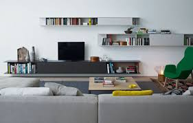 Modular Wall Units Modular Wooden Tv Wall System Skip By Poliform Design Studio