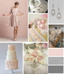Pink And Grey Color Scheme Blush Pink Silver And Grey Winter Wedding Palette Blush Pink
