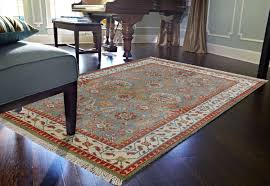 rugsville tribal oushak hand knotted sea green rug 120x180cm