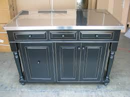 black kitchen island with stainless steel top ellajanegoeppinger com