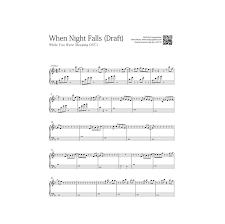download mp3 eddy kim when night falls while you were sleeping ost1 when night falls free piano sheet