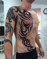 top 40 best tribal rib tattoos for manly ink design ideas