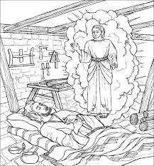 christmas joseph angel coloring