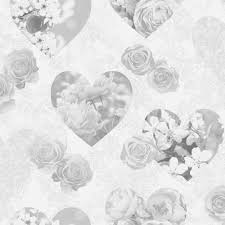 Floral Shabby Chic Wallpaper by Fine Decor Hearts Wallpaper Fd41914