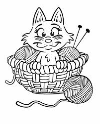 printable coloring pages kittens cartoon coloring pages kitten in yarn yarns yarn colors and free