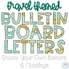 themed letters bulletin board letters travel themed by teach inspire tpt