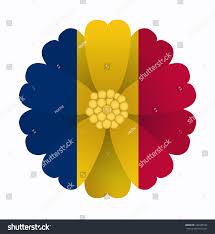 Flag Flower Illustration Flower Flag Chad Stock Vector 243345556 Shutterstock