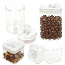 20 clear plastic kitchen canisters 4pcs canister set sealed