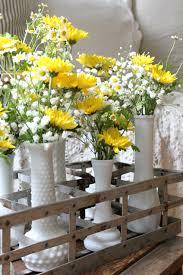 Flower Arrangements In Vases Milk Glass Vases Milk Bottle Holder Floral Arrangement An