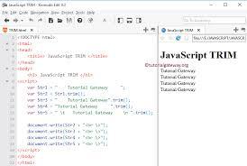 javascript tutorial head first trim function