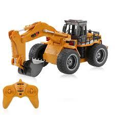 hui na toys no 1530 2 4g 6ch mini rc excavator engineering vehicle