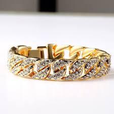 rhinestone chain bracelet images Fashion hot sale fully iced out rhinestone bracelet 18k gold hip jpg