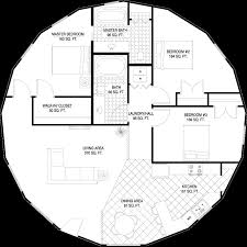 Simple 3 Bedroom Floor Plans by Quaint Floor Plan With More Than Simple Walls Separating Bedrooms