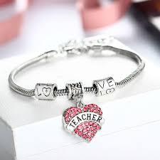 s day bracelet aliexpress buy pink heart bracelet chain