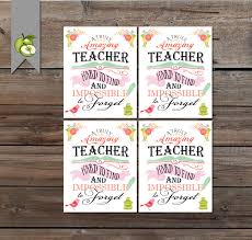 thanksgiving gift for teachers teacher appreciation gift tag a truly amazing teacher gift tag