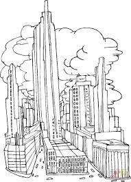 coloriage la ville de new york avant le 11 septembre 2001