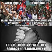 Black Power Memes - stwhite power black power scares people who are scaresreoplewho are
