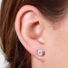 magnetic stud earrings imitation pearl and 6mm cz magnetic stud earring set