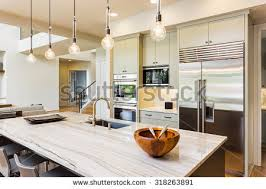 House Kitchen Interior Design Pictures Kitchen House Kitchen Interior Island Sink Stock Photo 318263891