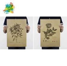 compare prices on posters flowers vintage online shopping buy low vintage style paper poster retro wall stickers flowers j y decoration paper poster pp 03