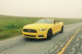 lexus yellow convertible 2015 ford mustang ecoboost convertible review great car with