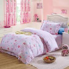Twin Size Beds For Girls by Little Pink Rabbit Heart Comforter Bedding Sets Cartoon 100