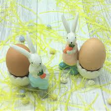 bunny egg cup ceramic boy girl bunny egg cup set tutti decor ltd
