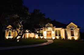 exterior accent lighting for home residential commercial landscape