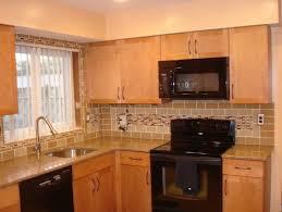 kitchen backsplash with oak cabinets classic kitchen look with oak cabinets tile backsplash home