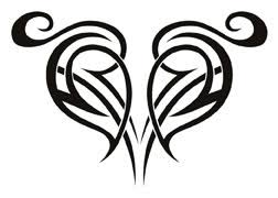 sublime black tribal heart tattooforaweek temporary tattoos