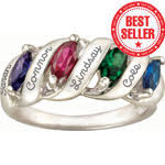 mothers rings with 4 stones mothers rings mothers pendants engravable mothers rings
