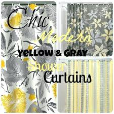 Grey And Yellow Shower Curtains Grey And Yellow Curtains Fancy Grey And Yellow Shower Curtains