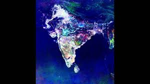 India On Map by Satellite View Of India On Diwali Night Youtube