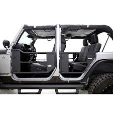 wrangler jeep 4 door black rampage 7684 wrangler jk trail door front rear kit 2007 2018 4