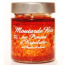 cuisine et sens mustard espelette pepper organic food ripe organic