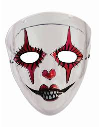 transparent evil harlequin womens red black white jester
