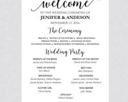 wedding program sign wedding ceremony program sign template printable welcome