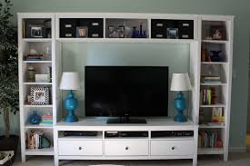 wall to wall white entertainment center ikea with shelving unit