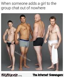 Group Photo Meme - when someone adds a girl to the group chat funny meme pmslweb