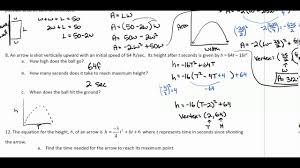 math 3 unit 9 worksheet 3 youtube