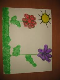 spring flowers arts and crafts activity for toddlers and