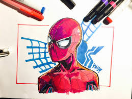 spider man homecoming drawing by cmetznerdotcom on deviantart