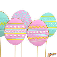 pastel easter eggs easter egg cookie pops in pastel colours