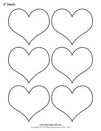 blank heart templates printable heart shape pdfs