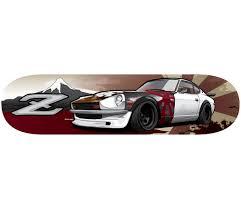 classic datsun 280z jdm datsun 280z ratsun limited skate deck board rhd shop art